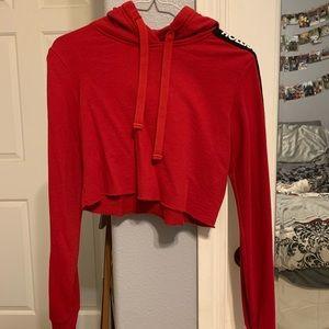 cropped hollister hoodie